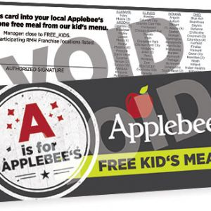 Applebee's - Good Report Card Deal